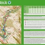 Mapa národního parku Krka