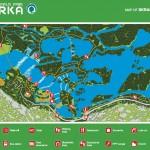 Mapa národního parku Krka - Skradinski Buk