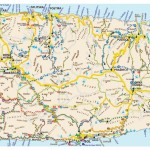 Mapa ostrova Brač