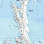 Mapa ostrova Cres