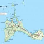 Mapa ostrova Formentera