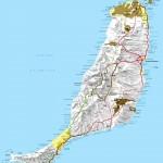 Mapa ostrova Fuerteventura