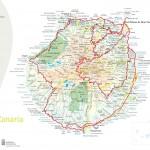 Mapa ostrova Gran Canaria