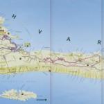 Mapa ostrova Hvar