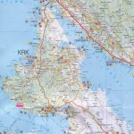 Mapa ostrova Krk