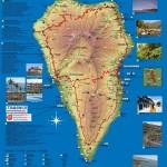 Mapa ostrova La Palma