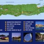 Mapa ostrova Mljet