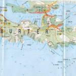 Mapa ostrova Murter