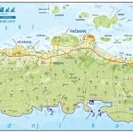 Mapa ostrova Pašman