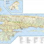 Mapa ostrova Rab
