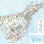 Mapa ostrova Tenerife