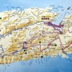 Mapa ostrova Vis