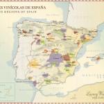 Mapa vinařských regionů Španělska