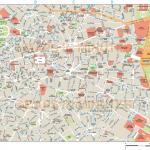 Plánek centra Madridu
