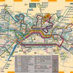 Plánek hromadné dopravy města Granada