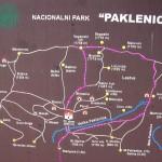 Plánek národního parku Paklenica