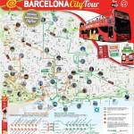 Plánek vyhlídkových jízd v Barceloně