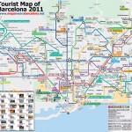 Turistická mapa Barcelony