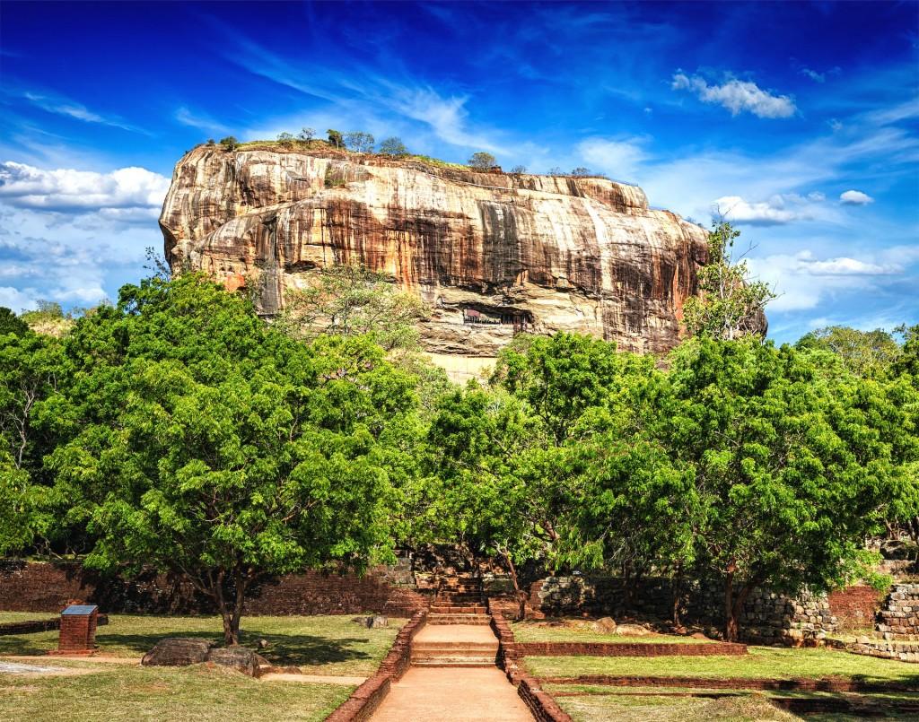 Sigiriya (Lví skála) na Srí Lance