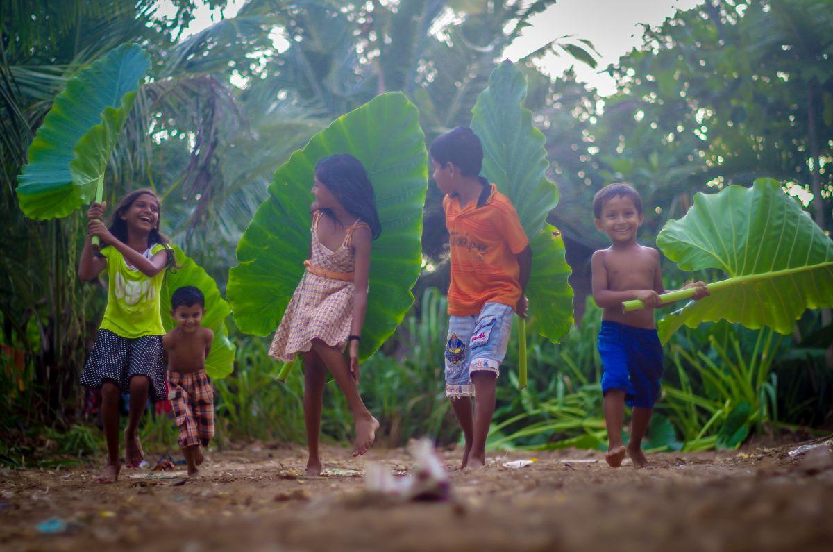 Děti na Srí Lance