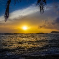 Západ Slunce u Negomba