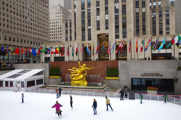 Bruslení u Rockefellerova centra