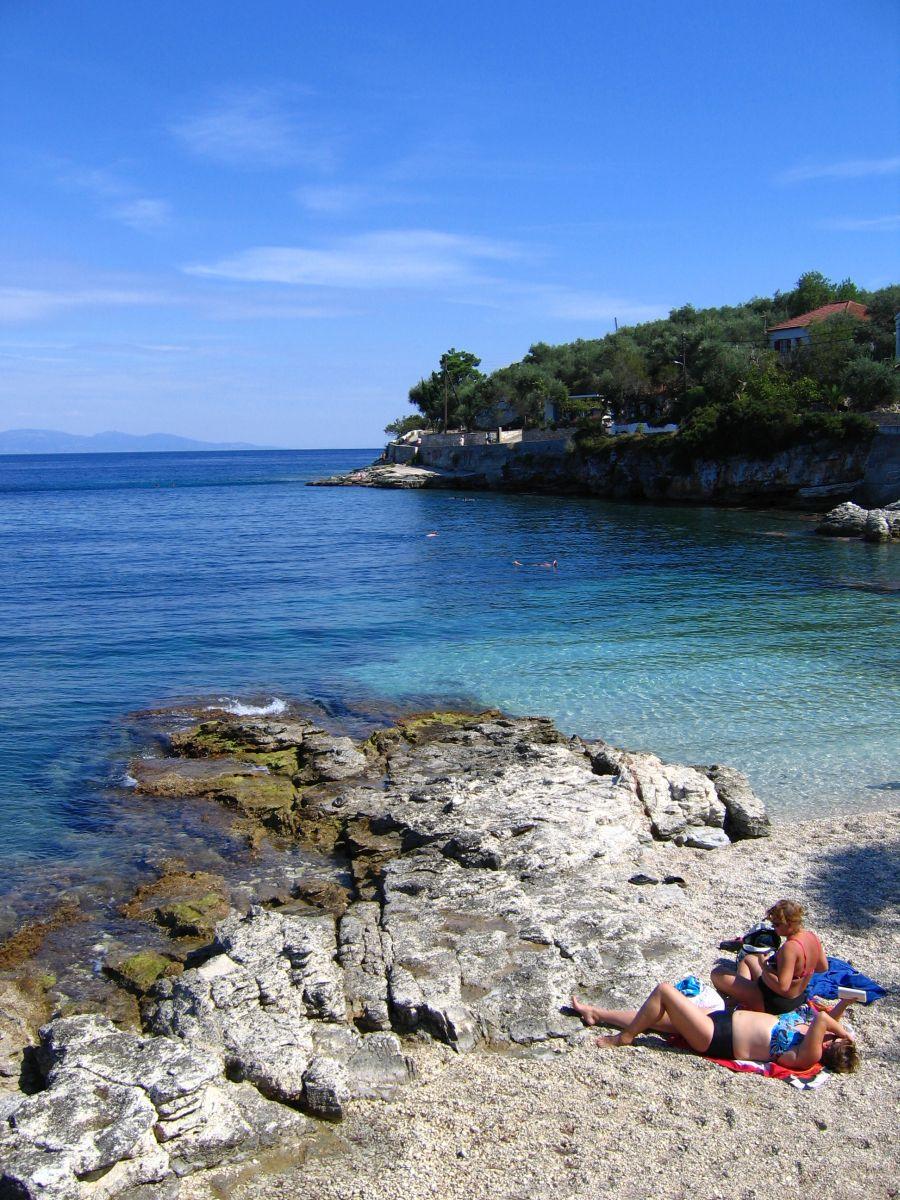 pláž v Gaiosu na Paxosu
